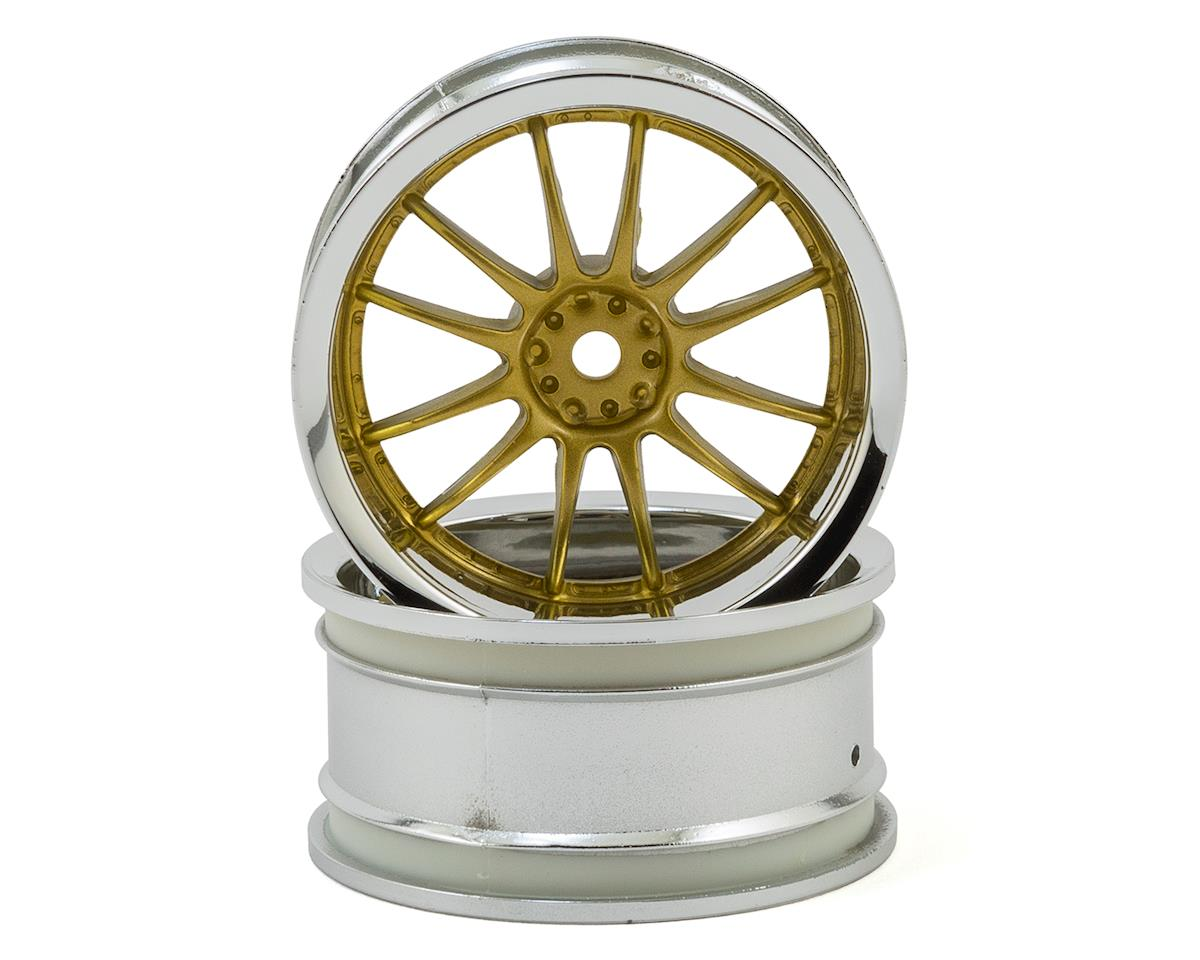 HPI Nitro RS4 3 Drift Work XSA 02C 26mm Wheel (Chrome/Gold) (2) (6mm Offset)