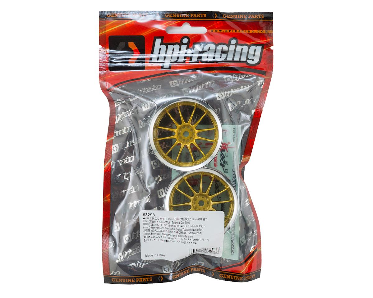 HPI Work XSA 02C 26mm Wheel (Chrome/Gold) (2) (6mm Offset)