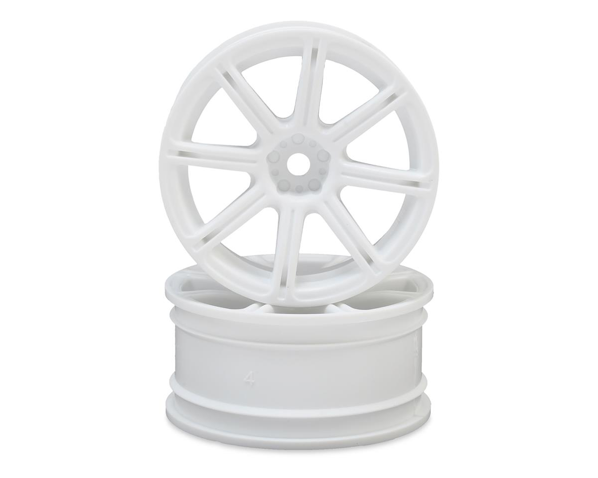 HPI E10 12mm Hex 26mm Work XC8 TC Wheel (White) (2) (3mm Offset)