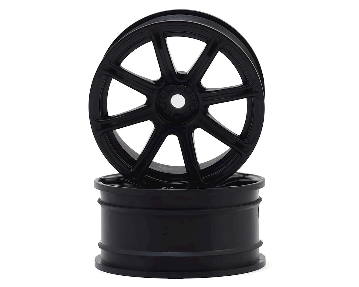 HPI E10 12mm Hex 26mm Work XC8 TC Wheel (Black) (2) (6mm Offset)