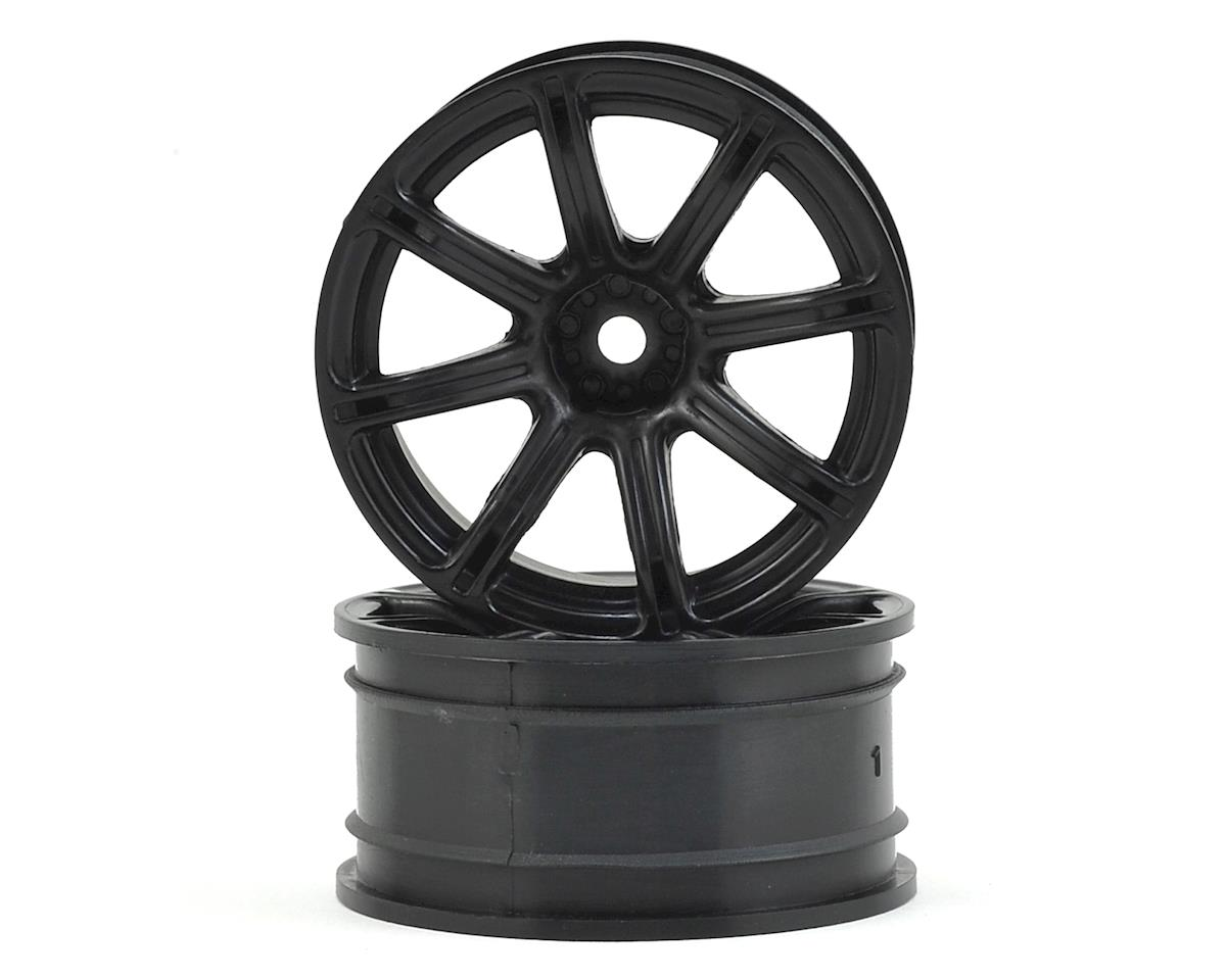 12mm Hex 26mm Work Emotion XC8 Wheel (Black) (2) (9mm Offset) by HPI