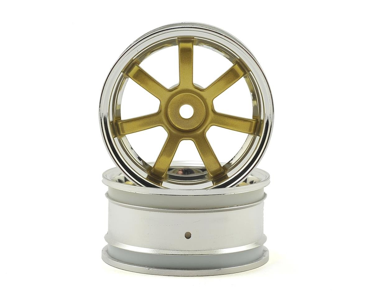 Rays Gram Lights 57S-Pro 26mm Wheel (2) (Chrome/Gold) (3mm Offset) by HPI