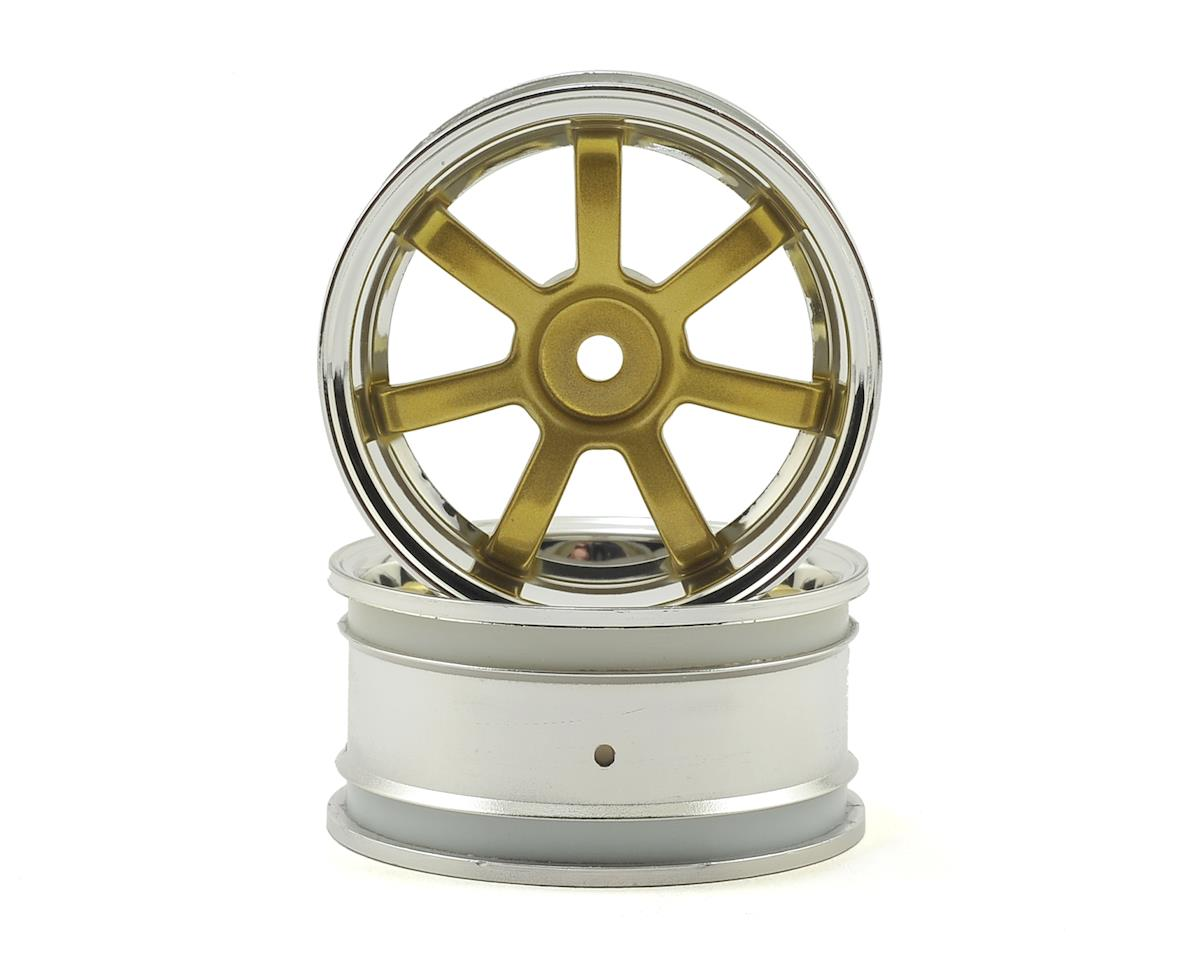 HPI RS4 Rays Gram Lights 57S-Pro 26mm Wheel (2) (Chrome/Gold) (3mm Offset)