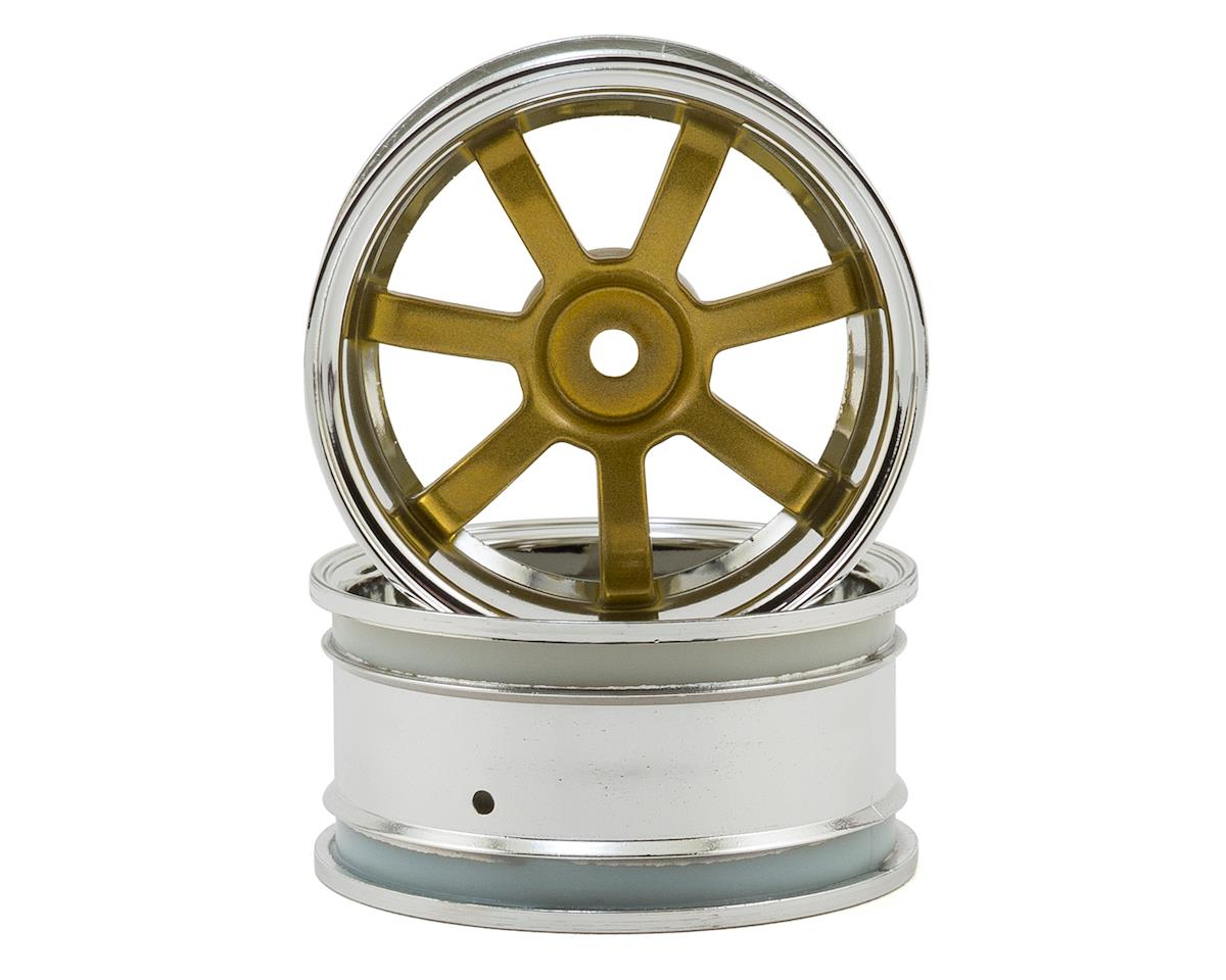 HPI Sprint Rays Gram Lights 57S-Pro 26mm Wheel (2) (Chrome/Gold) (6mm Offset)