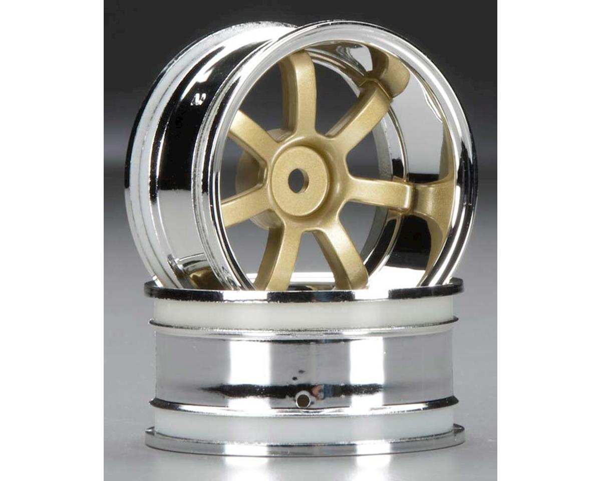 RaysGram 57S ProChrome/Gold Wheel 9mmOffset(2):RS4 by HPI