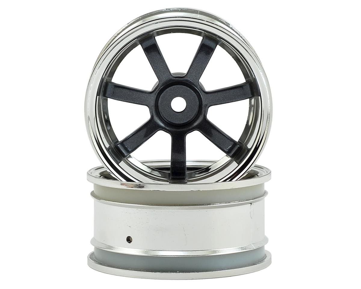 26mm Rays Gram Lights 57S-Pro Wheel (Chrome/Gunmetal) (2) (6mm Offset) by HPI