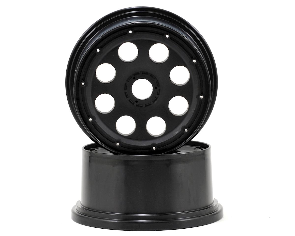 Outlaw Rear Wheel (Black) (2) (120x65mm/-10mm Offset) by HPI Baja Kraken TSK-B