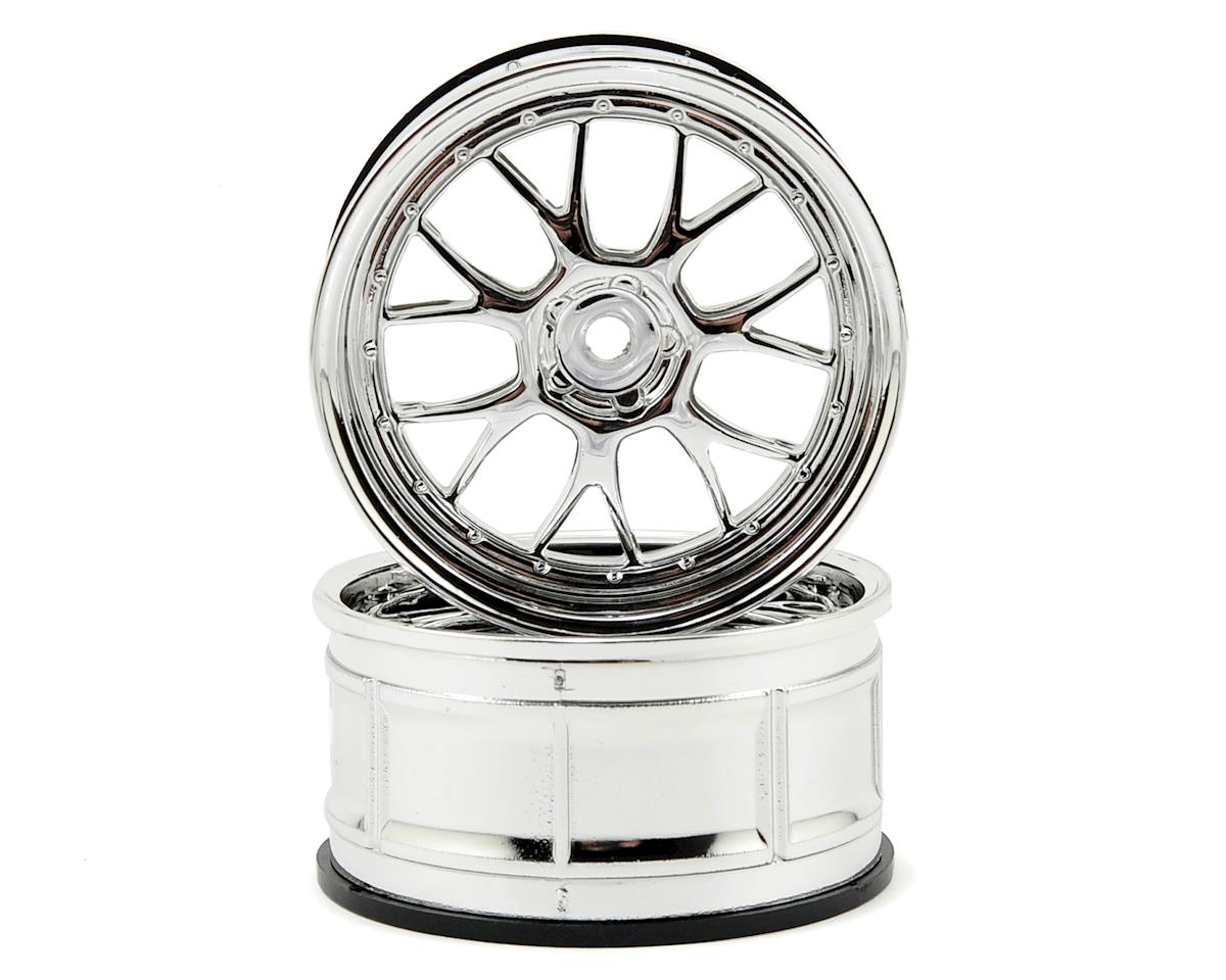 HPI 12mm Hex LP29 LM-R Wheels (2) (3mm Offset) (Chrome)