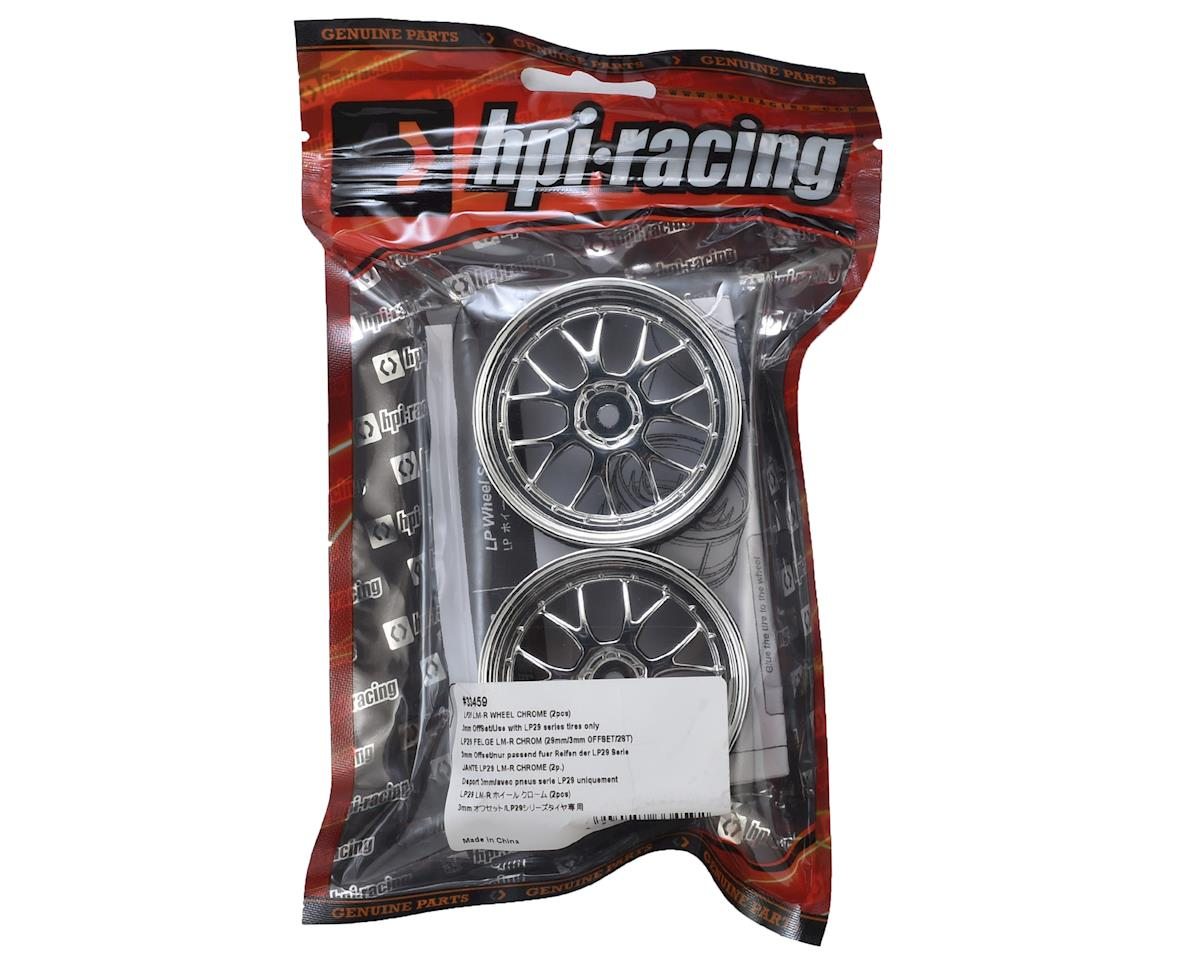 HPI Racing 12mm Hex LP29 LM-R Wheels (2) (3mm Offset) (Chrome)