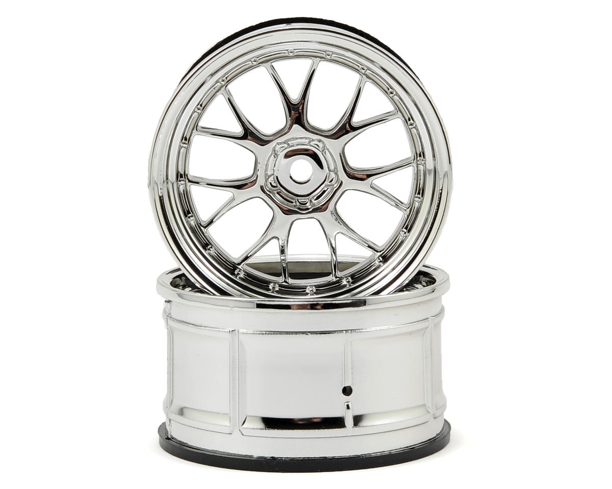 HPI 12mm Hex LP32 LM-R Wheels (2) (6mm Offset) (Chrome)