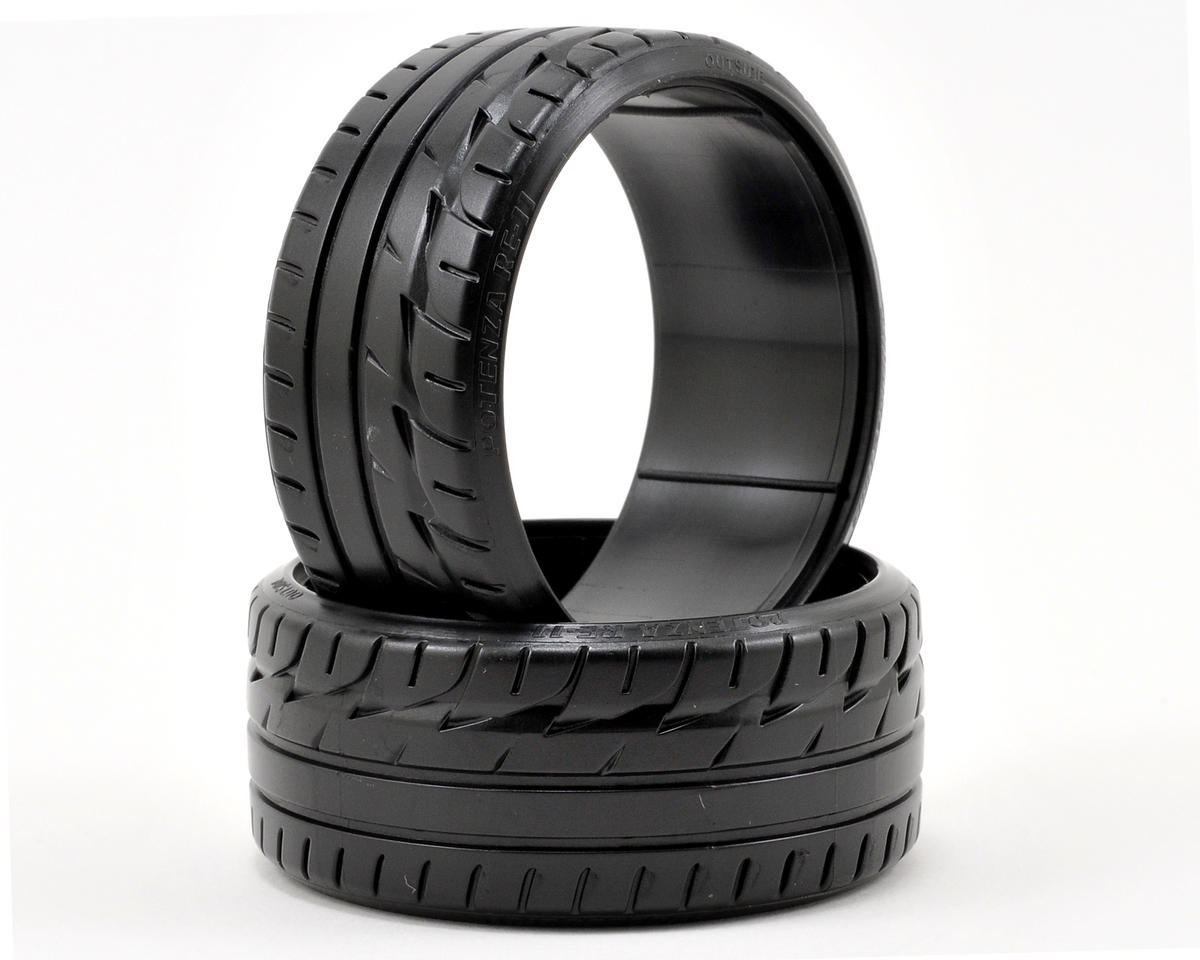 "HPI Racing ""Bridgestone Potenza RE-11"" T-Drift Tire (2) (LP29)"