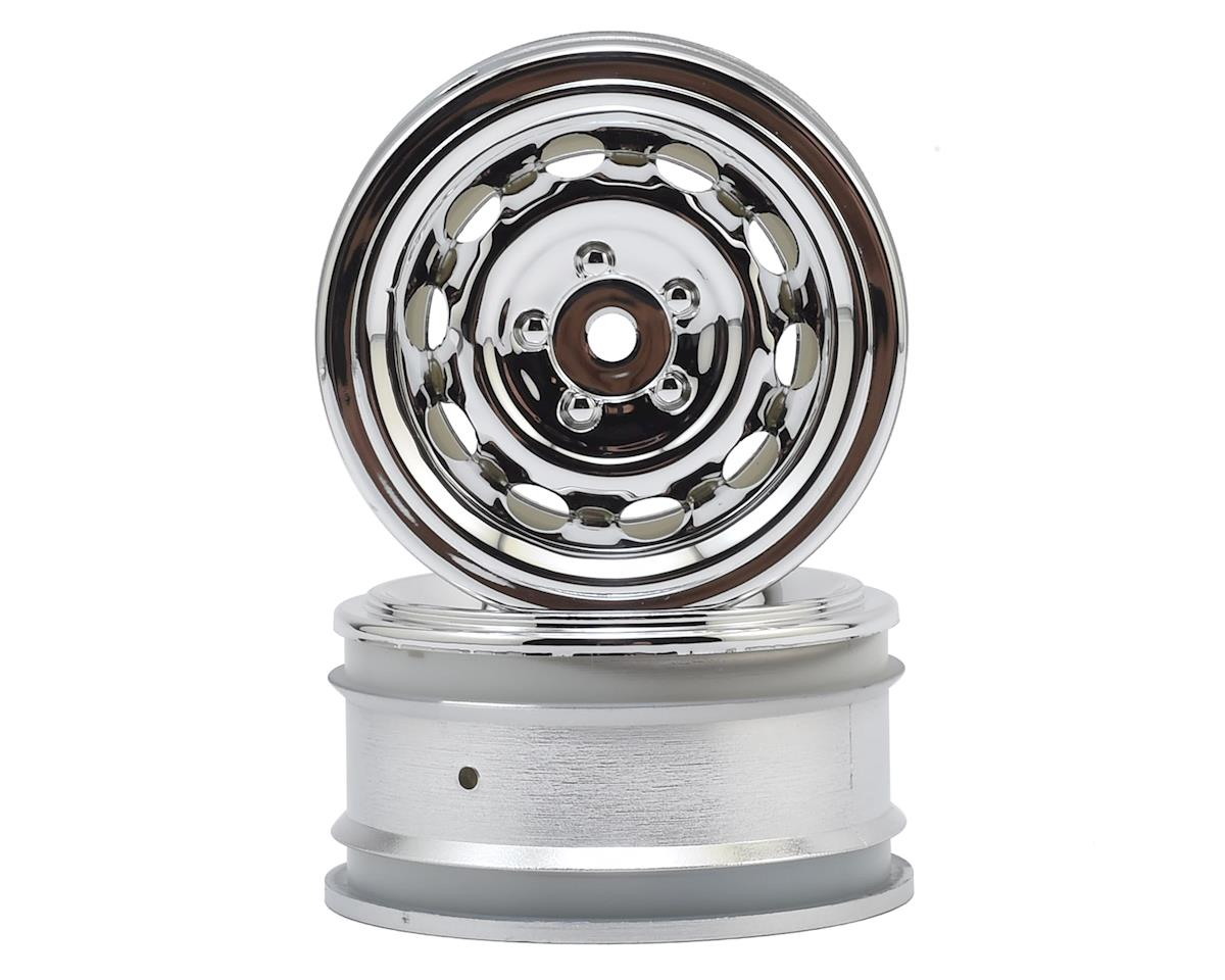 12mm Hex 26mm Vintage CC Wheel (2) (0mm Offset) (Chrome) by HPI Racing