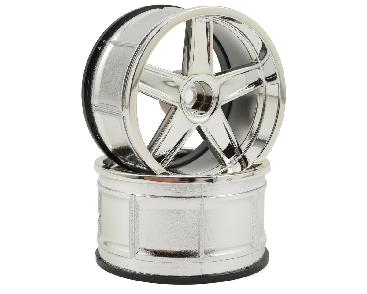 HPI 12mm Hex 32mm LP32 MF Type Wheel (2) (6mm Offset) (Chrome)