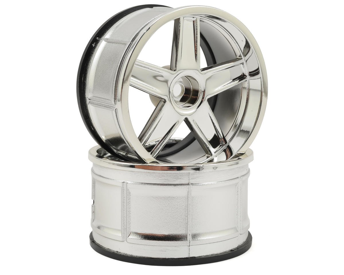 HPI Racing 12mm Hex 32mm LP32 MF Type Wheel (2) (6mm Offset) (Chrome)