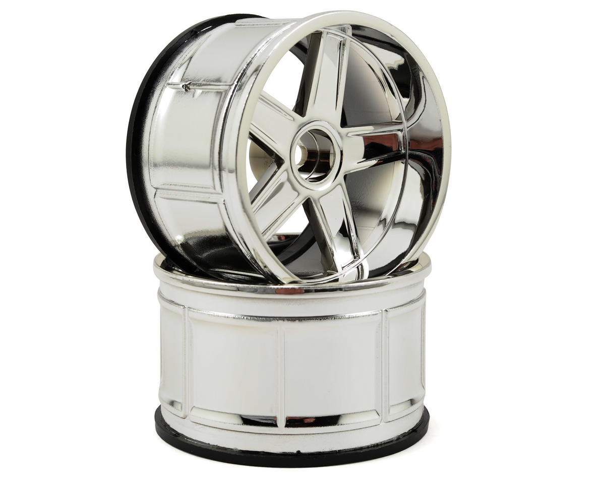 12mm Hex 35mm LP35 MF Type Wheel (2) (9mm Offset) (Chrome) by HPI
