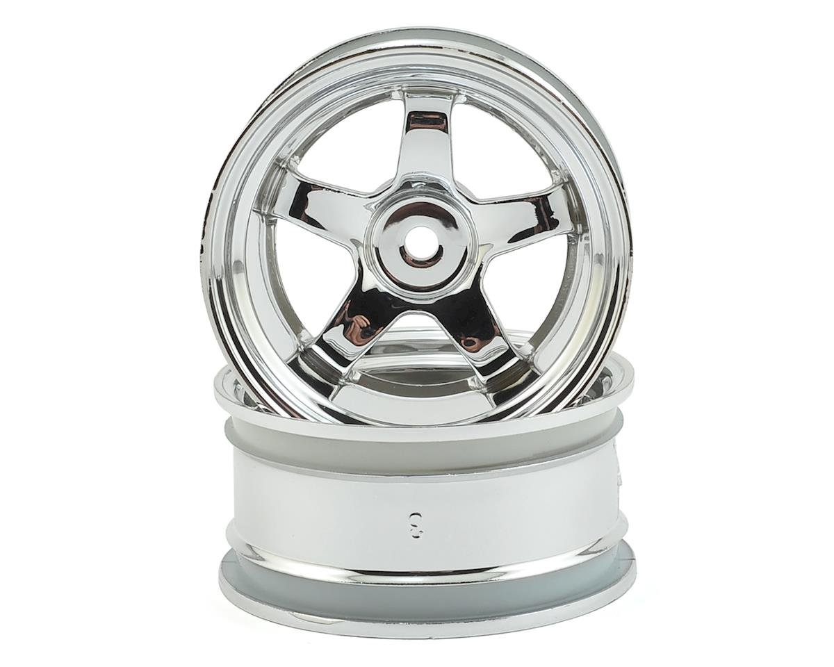 12mm Hex 26mm Work Meister S1 Wheel (Chrome) (2) (9mm Offset) by HPI