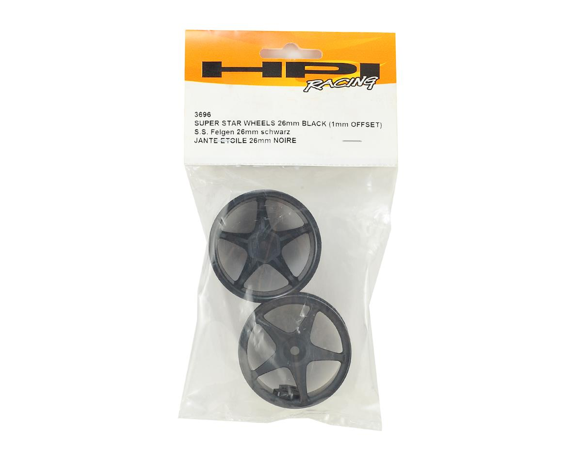 HPI Super Star Tour 26mm Wheel (Black) (2) (1mm Offset)