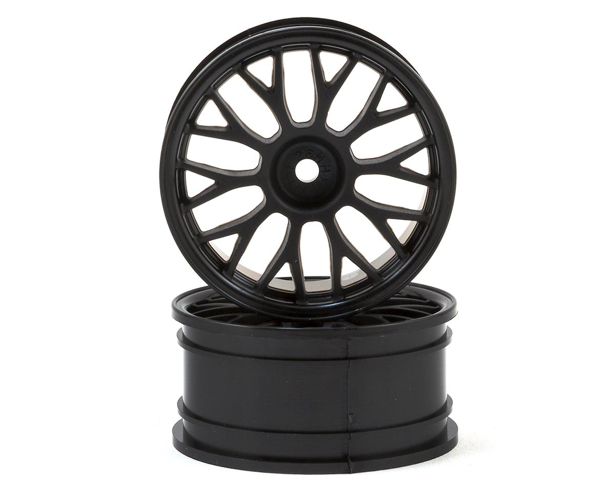 26mm Mesh Touring Car Wheel (Black) (2) (3mm Offset) by HPI