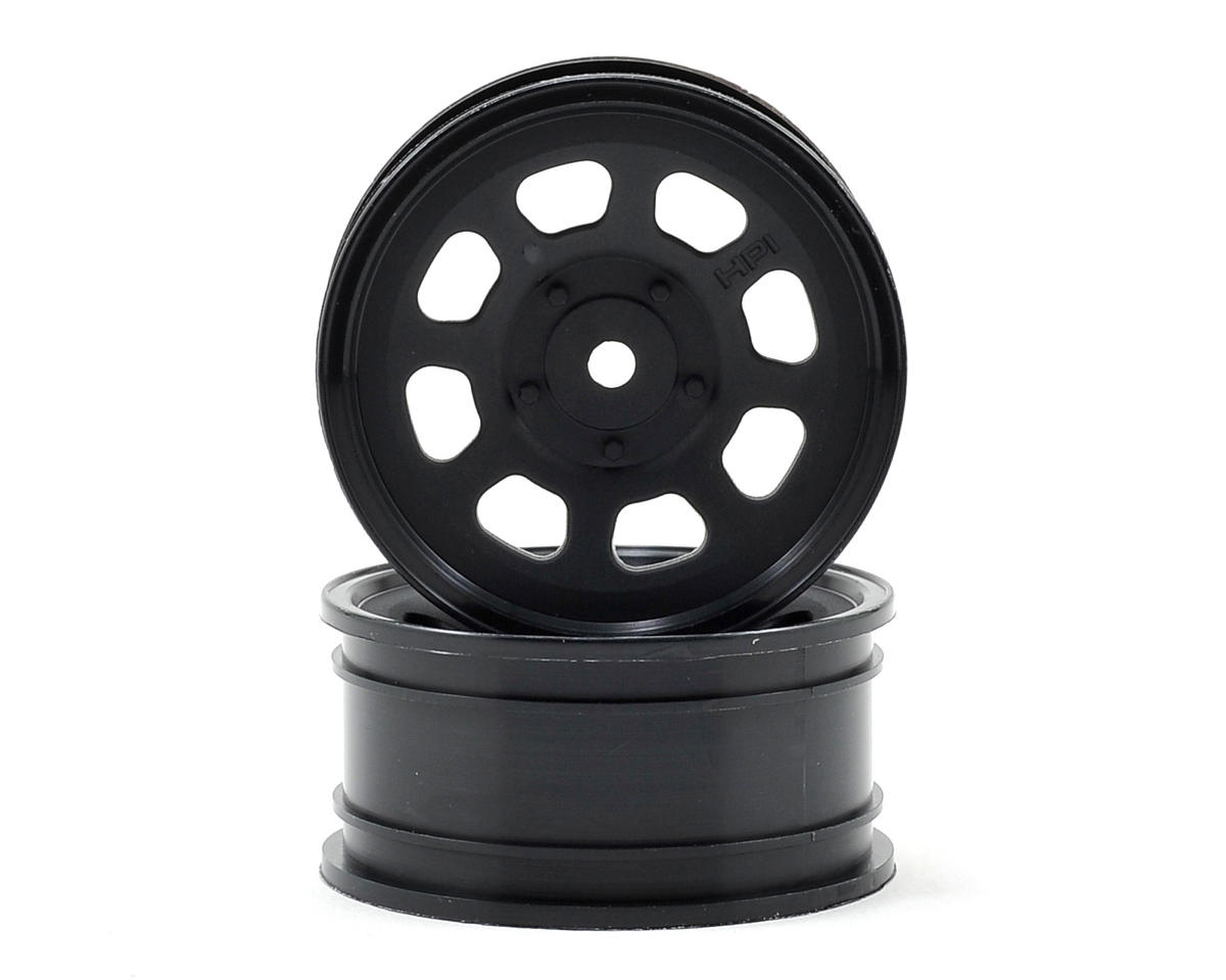 HPI 1/10th Hoonicorn 12mm Hex 26mm Stock Car Wheels (2) (Black)