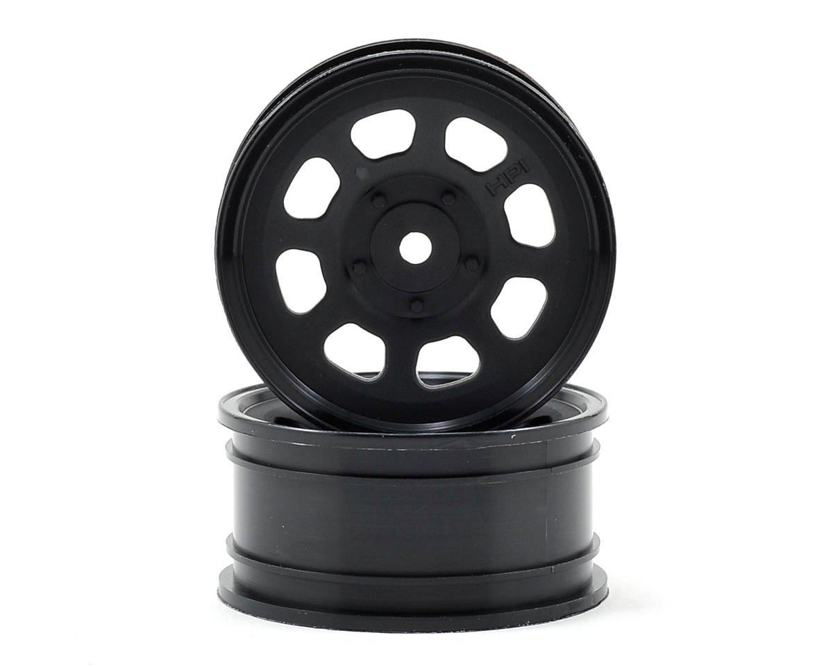 12mm Hex 26mm Stock Car Wheels (2) (Black) by HPI 1/10th Hoonicorn