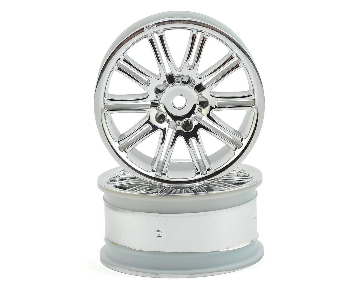 HPI 12mm Hex 26mm 10-Spoke Sport 1/10 Wheel (Chrome) (2)