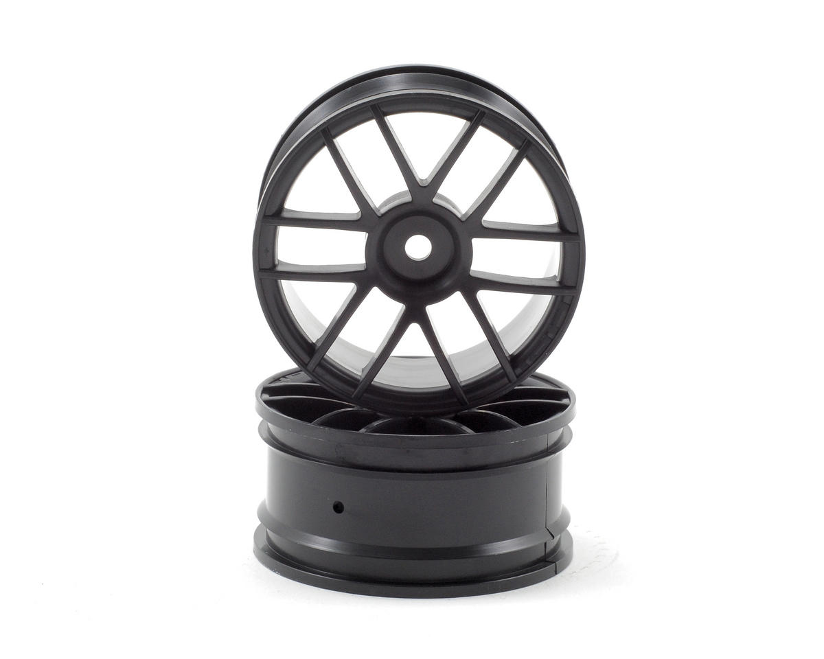 12mm Hex 26mm Split 6 Wheel (2) (Black) by HPI Racing