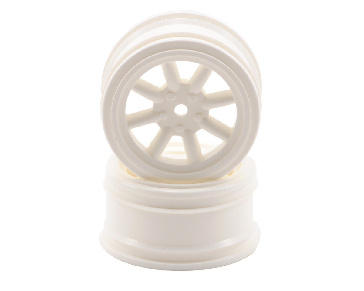 12mm Hex 26mm Vintage 8 Spoke Wheel (2) (White) by HPI