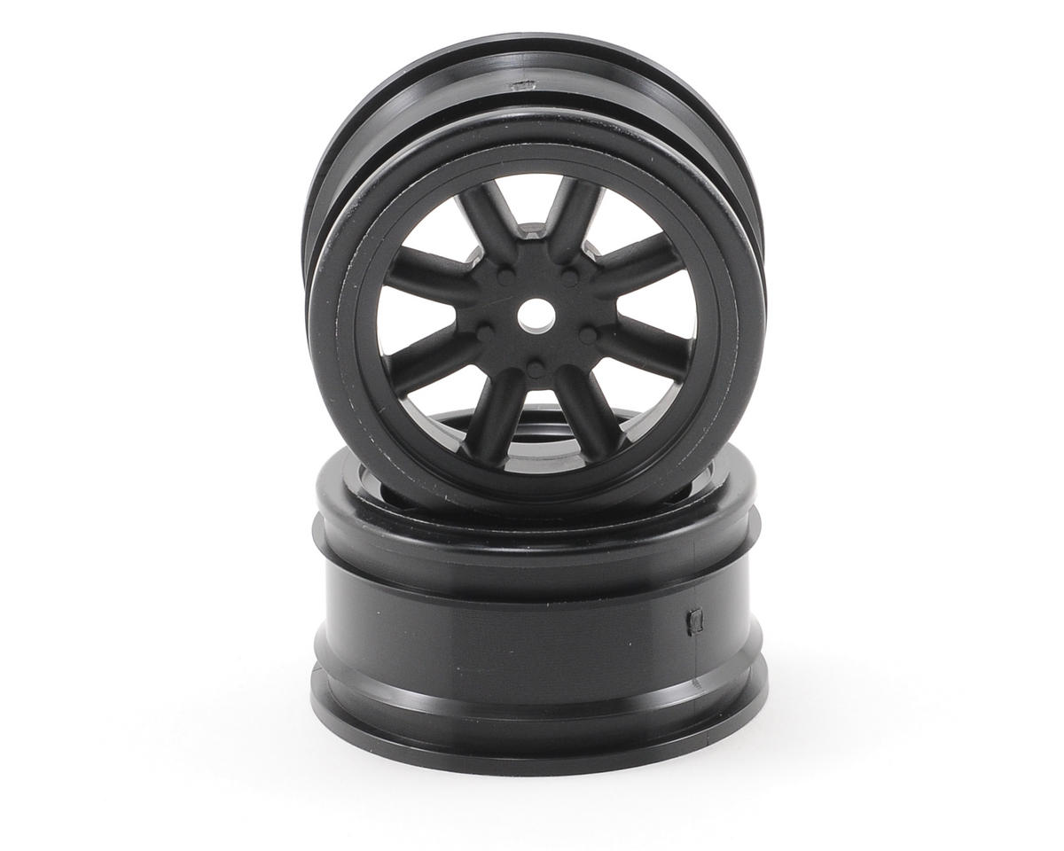 12mm Hex 26mm Vintage 8 Spoke Wheel (2) (Black) by HPI