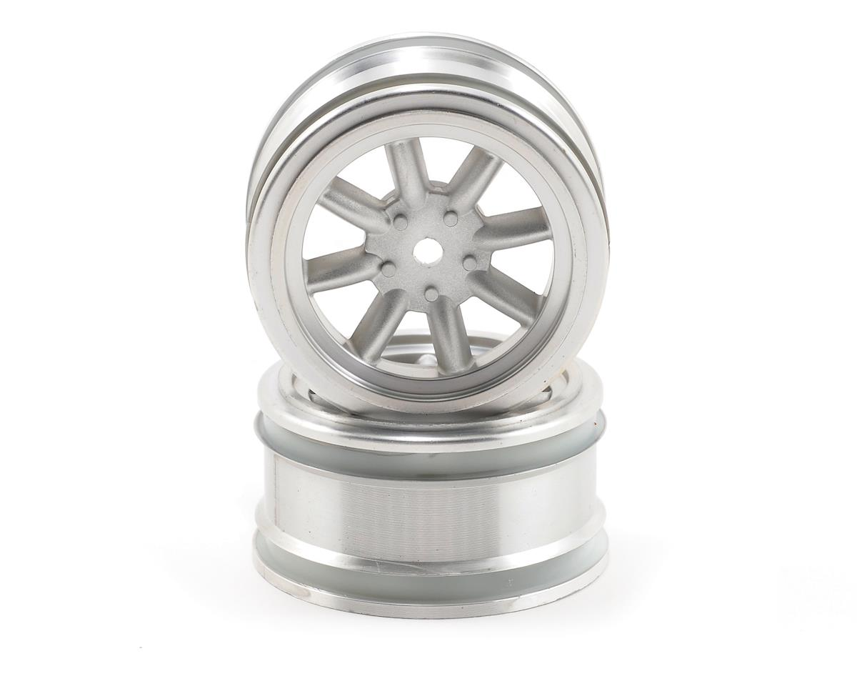 12mm Hex 26mm Vintage 8 Spoke Wheel (2) (Matte Chrome) by HPI