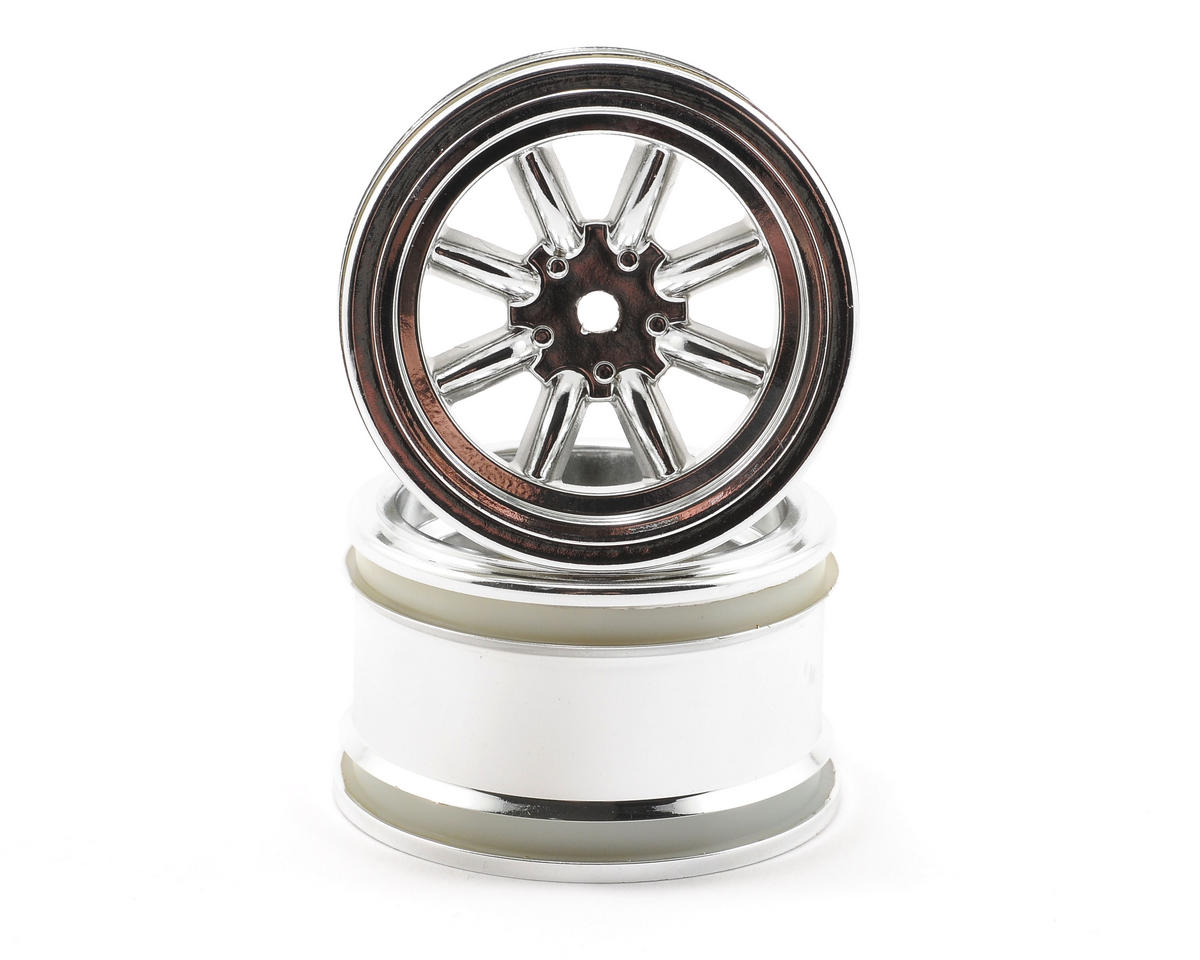 HPI Racing 31mm Vintage 8 Spoke Wheel (Chrome) (2)