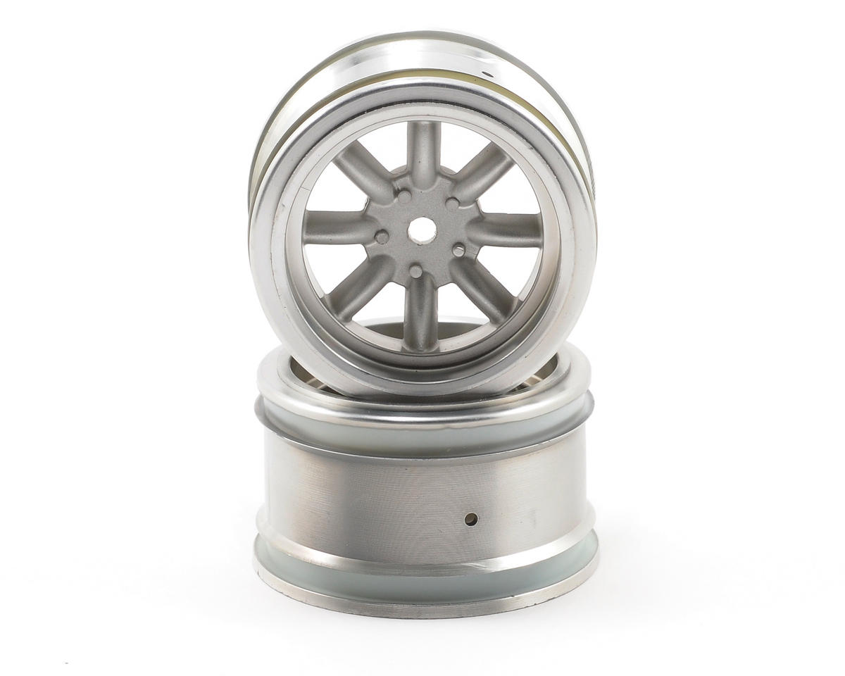 HPI 12mm Hex 31mm Vintage 8 Spoke Wheel (2) (Matte Chrome)