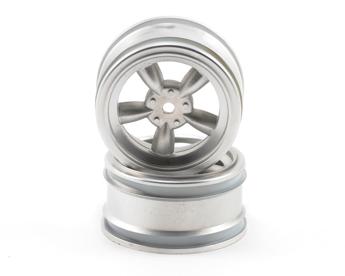 HPI 12mm Hex 26mm Vintage 5-Spoke Wheel (2) (0mm Offset) (Matte Chrome)