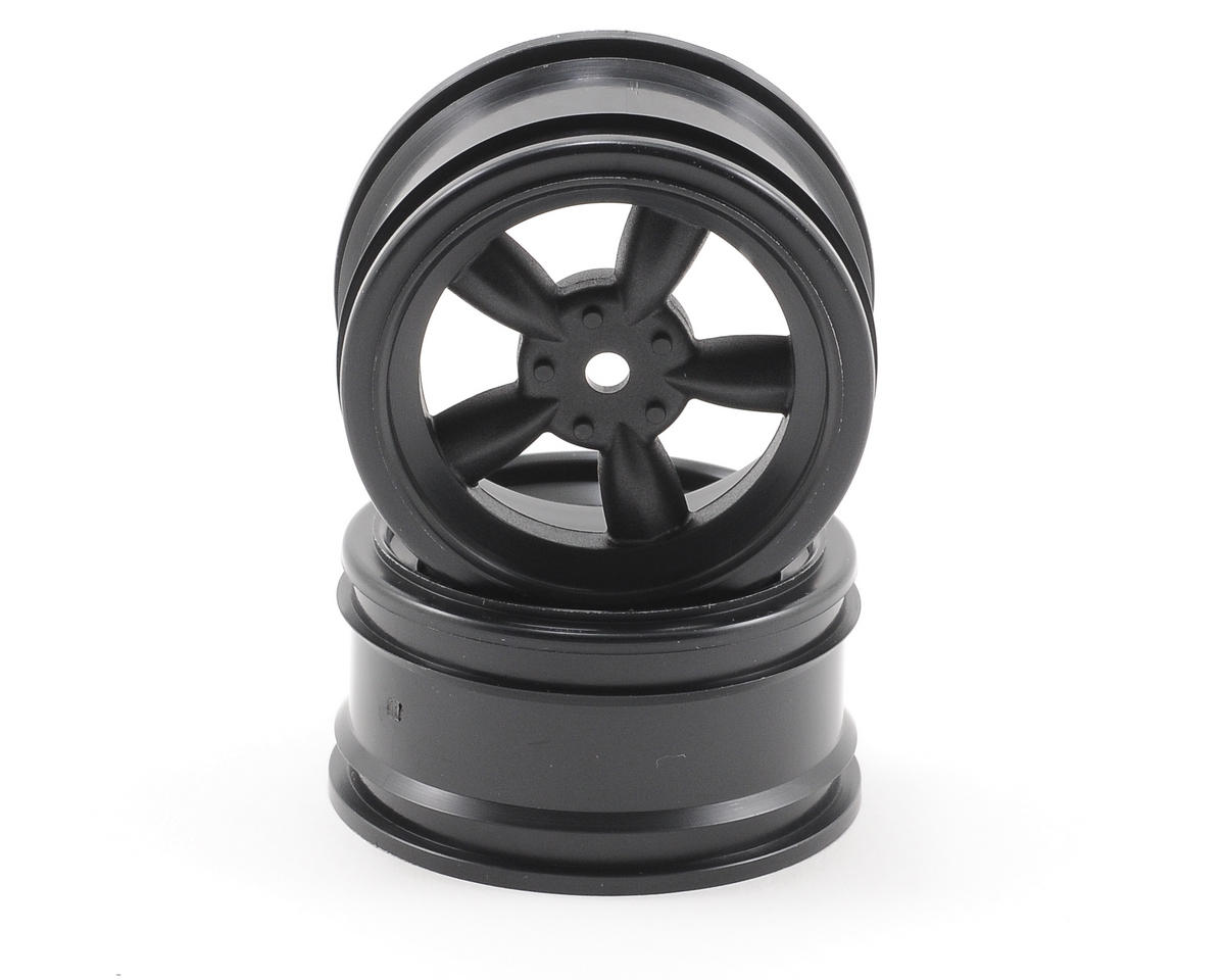 HPI 12mm Hex 26mm Vintage 5-Spoke Wheel (2) (0mm Offset) (Black)