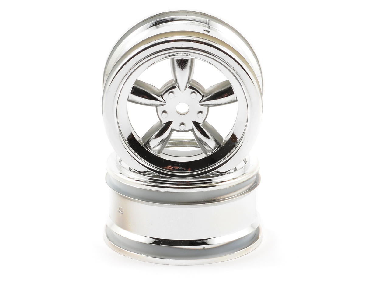HPI Racing 26mm Vintage 5-Spoke Wheel (2) (0mm Offset) (Chrome)