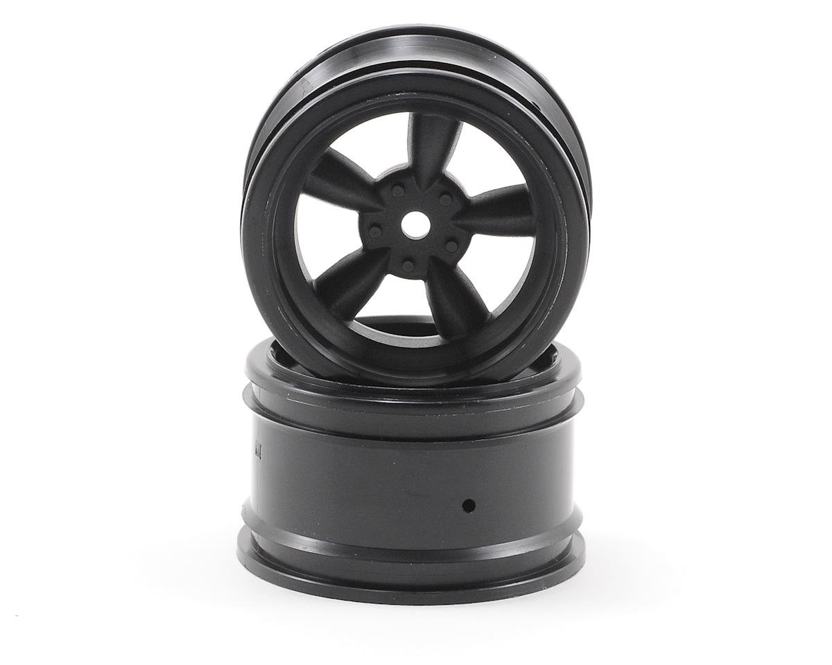12mm Hex 31mm Vintage 5-Spoke Wheel (2) (6mm Offset) (Black) by HPI