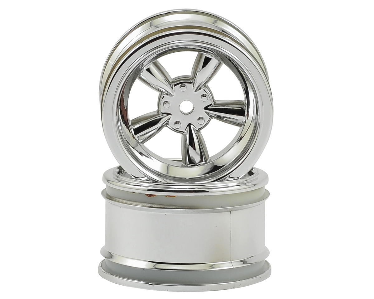 HPI 12mm Hex 31mm Vintage 5-Spoke Wheel (2) (6mm Offset) (Chrome)