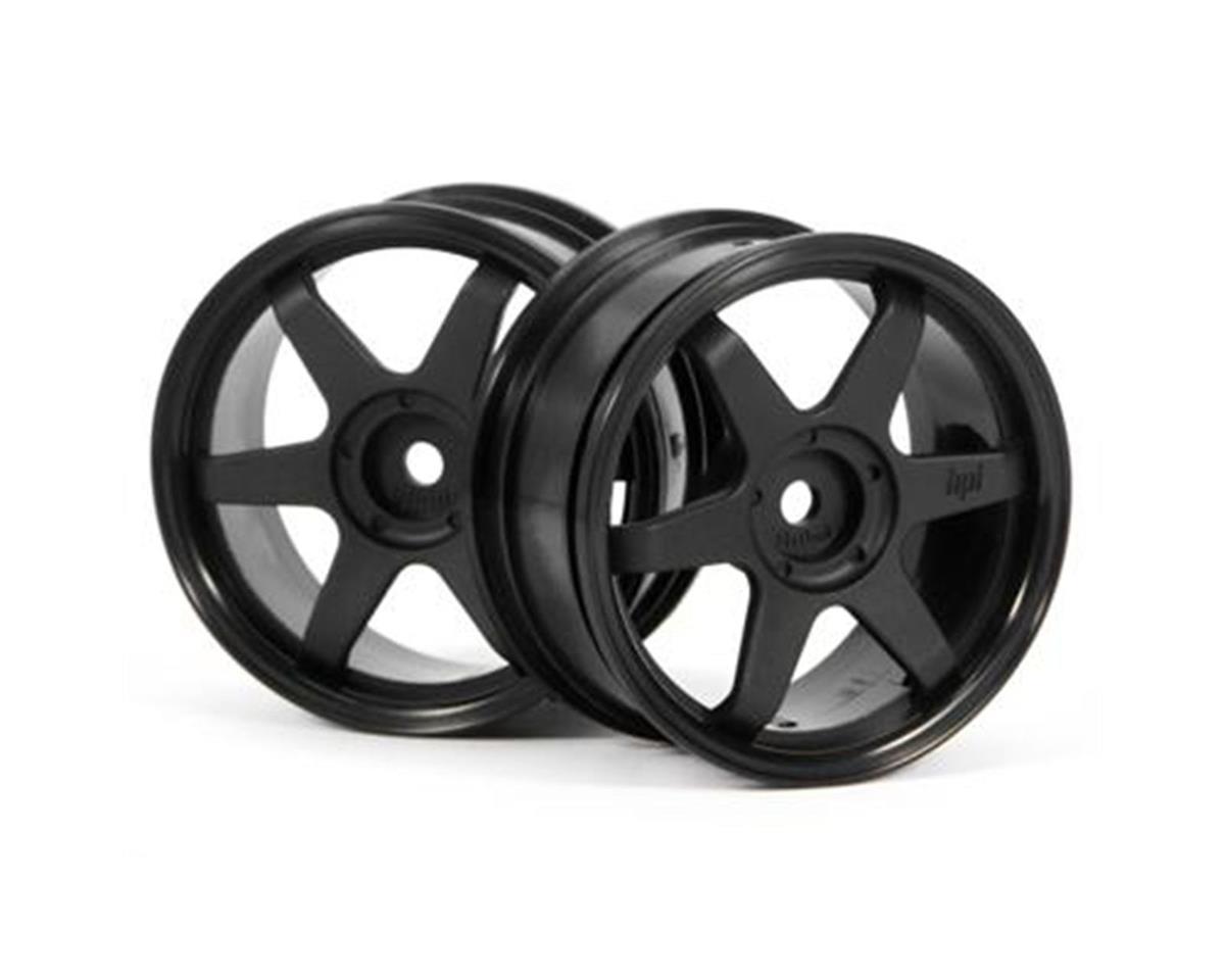 HPI TE37 Wheel, 26mm, Black, 0mm Offset