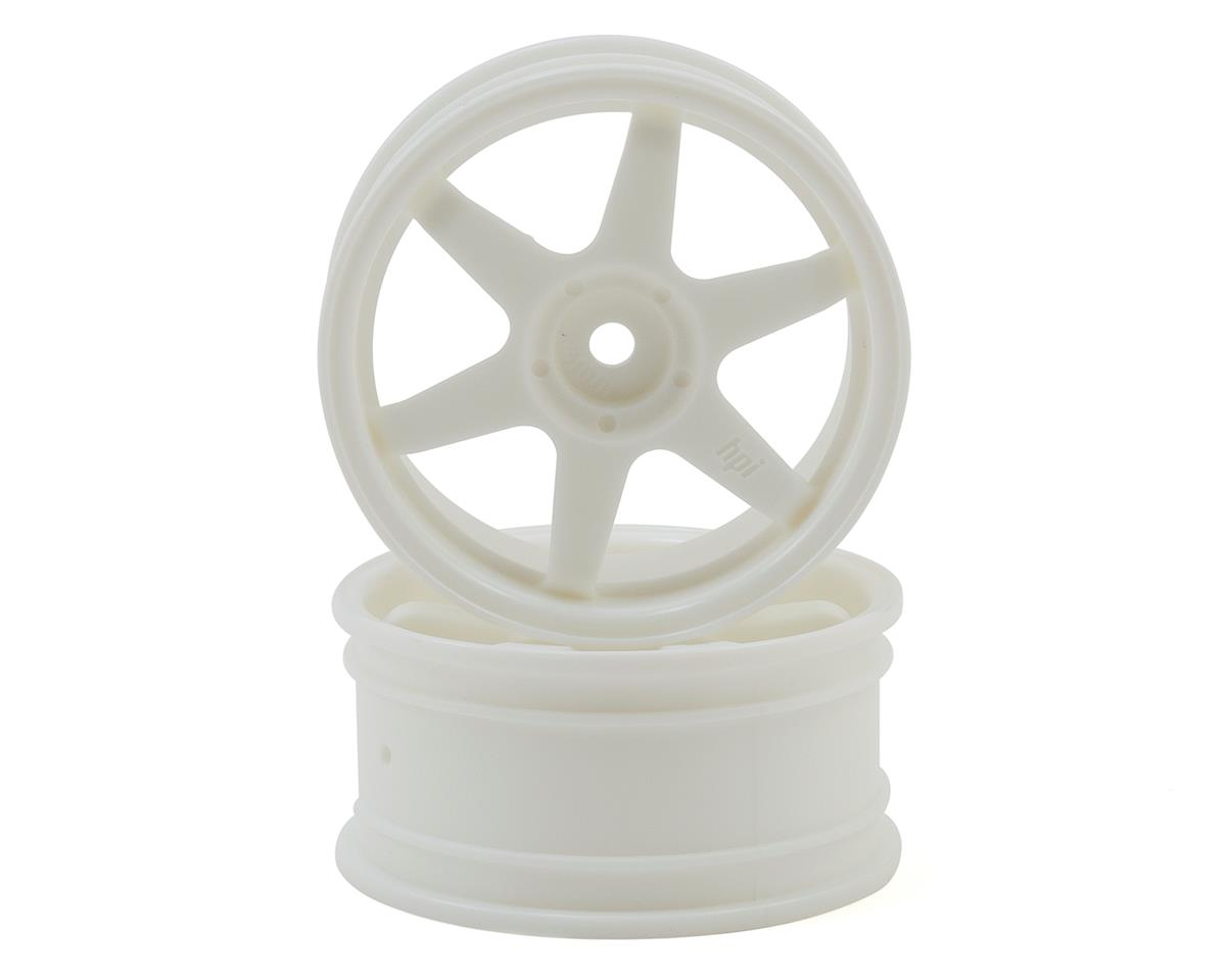 HPI 26mm TE37 Wheel (White) (2) (3mm Offset)