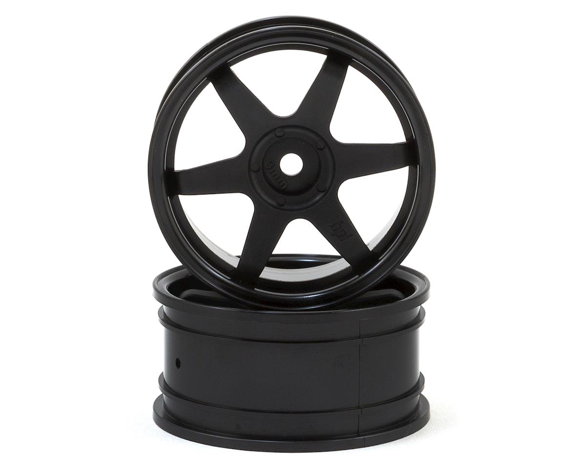 HPI 26mm TE37 Touring Car Wheel (Black) (2) (3mm Offset)
