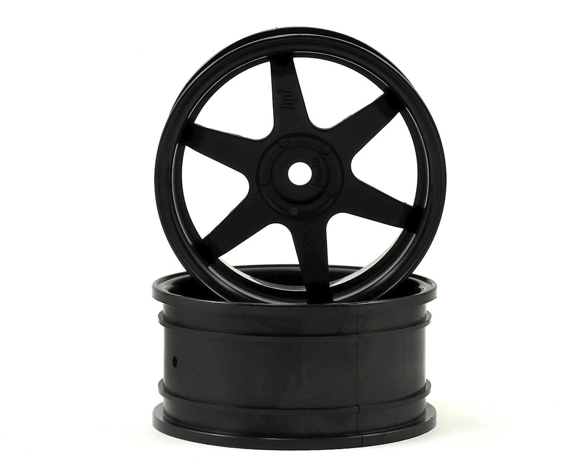 26mm TE37 Touring Car Wheel (Black) (2) (6mm Offset) by HPI