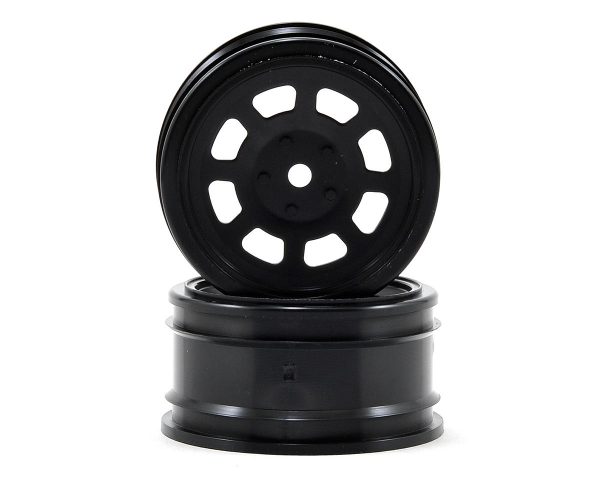 12mm Hex 26mm Vintage Stock Car Wheel (2) (0mm Offset) (Black) by HPI Racing