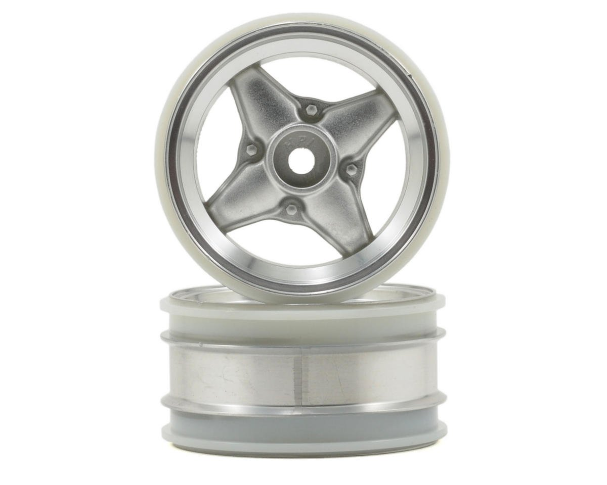 HPI Racing MX60 4 Spoke Wheel (Matte Chorme) (2) (3mm Offset)