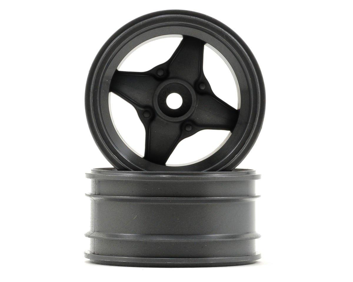 HPI MX60 4 Spoke Wheel (2) (3mm Offset) (Gun Metal)