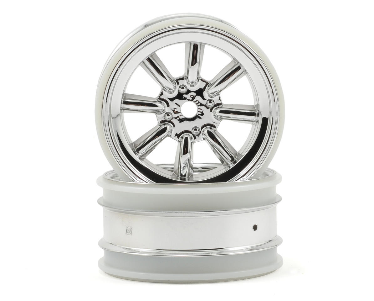 HPI Racing MX60 8 Spoke Wheel (2) (3mm Offset) (Chrome)