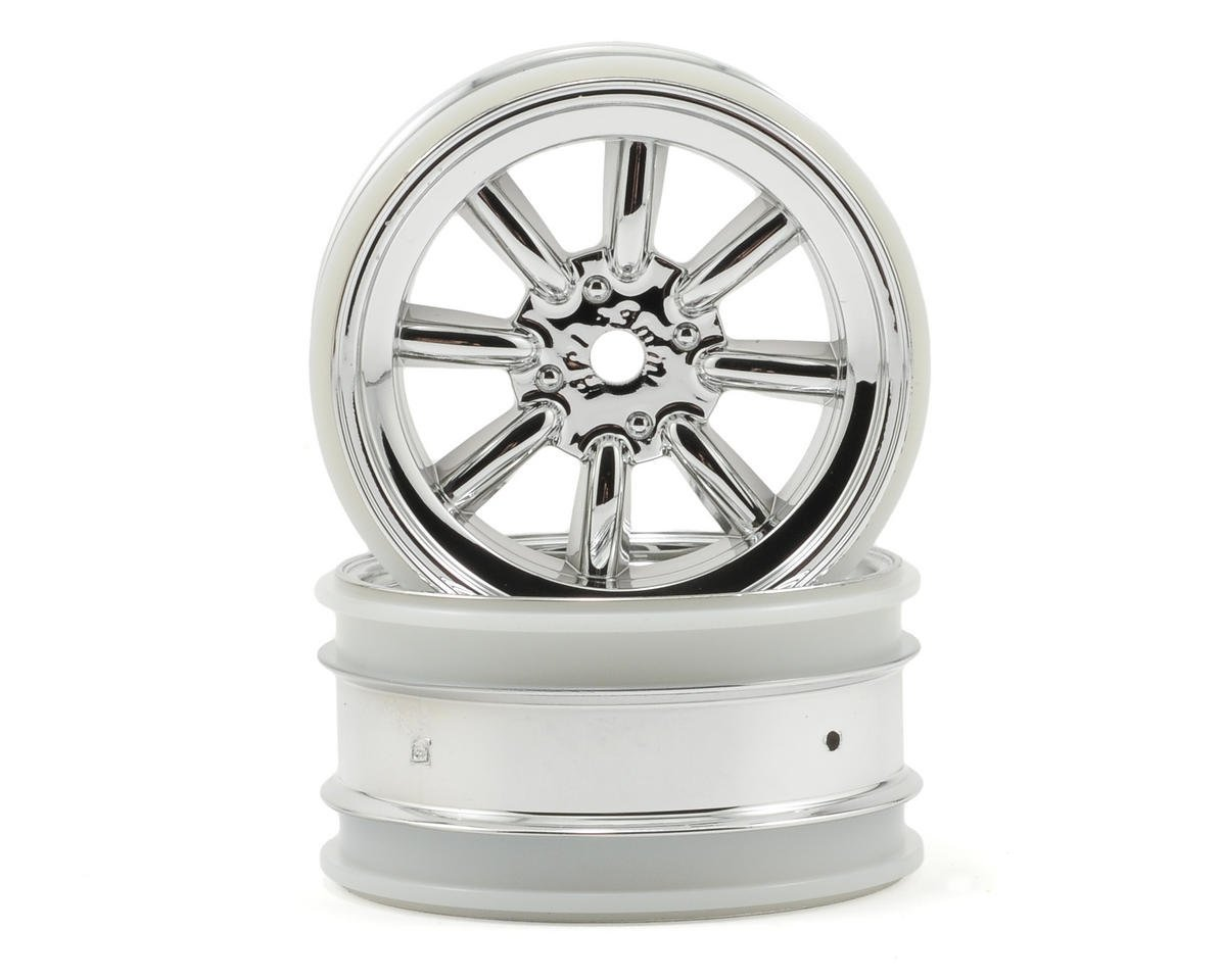 HPI Racing Cup Racer MX60 8 Spoke Wheel (2) (3mm Offset) (Chrome)