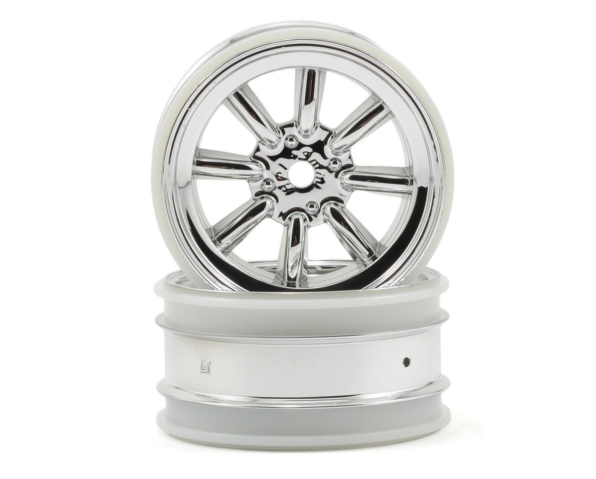 HPI Racing MX60 8 Spoke Wheel (2) (3mm Offset) (Chrome)