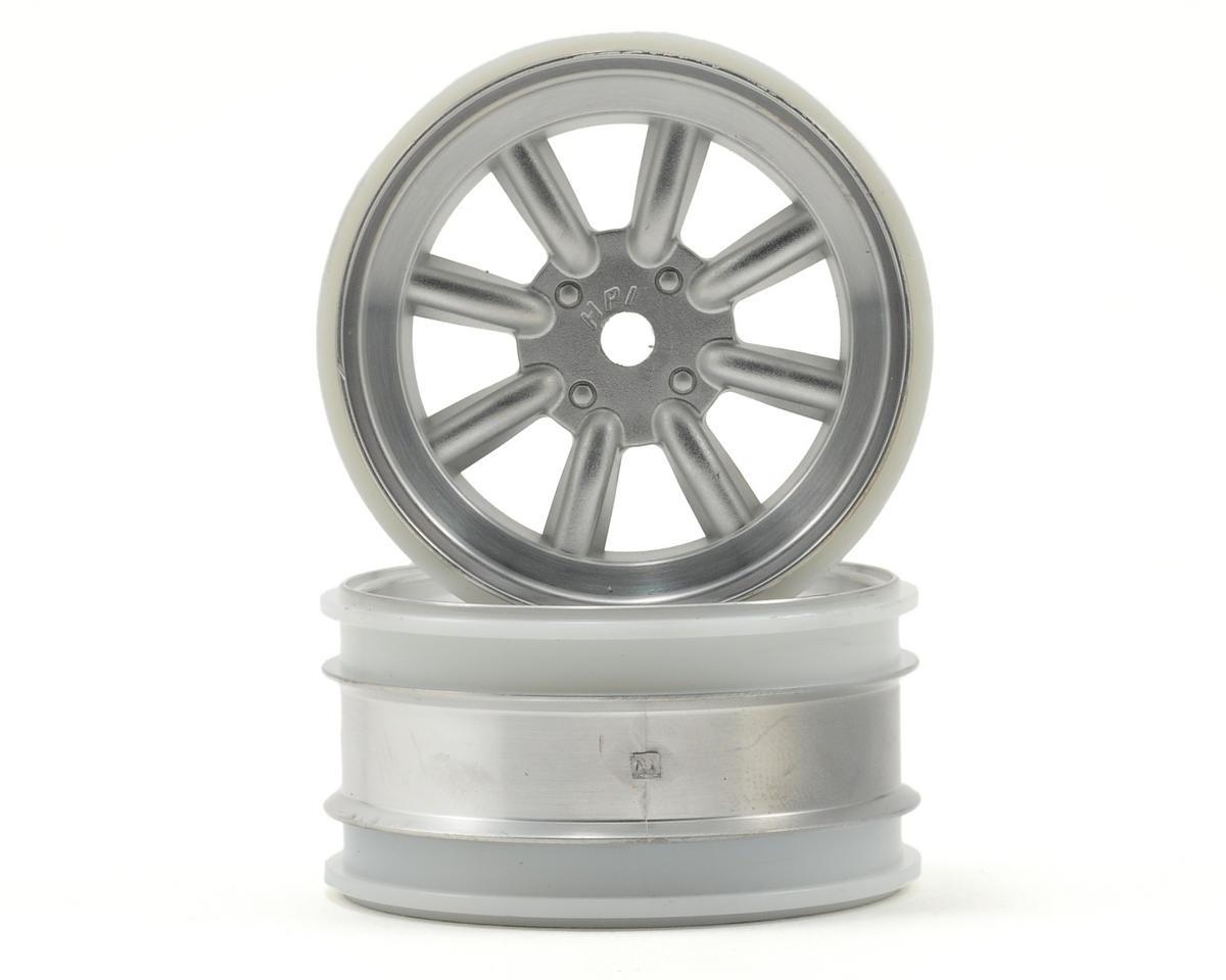 HPI Racing MX60 8 Spoke Wheel (2) (3mm Offset) (Matte Chrome)