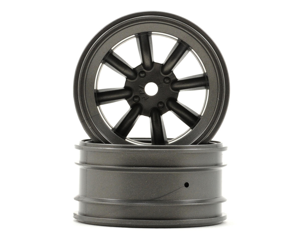 12mm Hex MX60 8 Spoke Wheel (2) (3mm Offset) (Gun Metal) by HPI