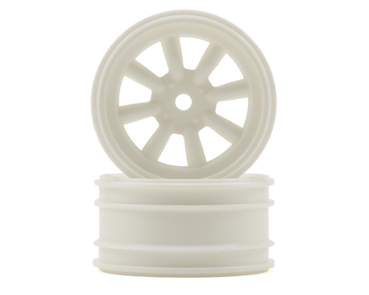 MX60 8 Spoke Wheel (2) (6mm Offset) (White) by HPI