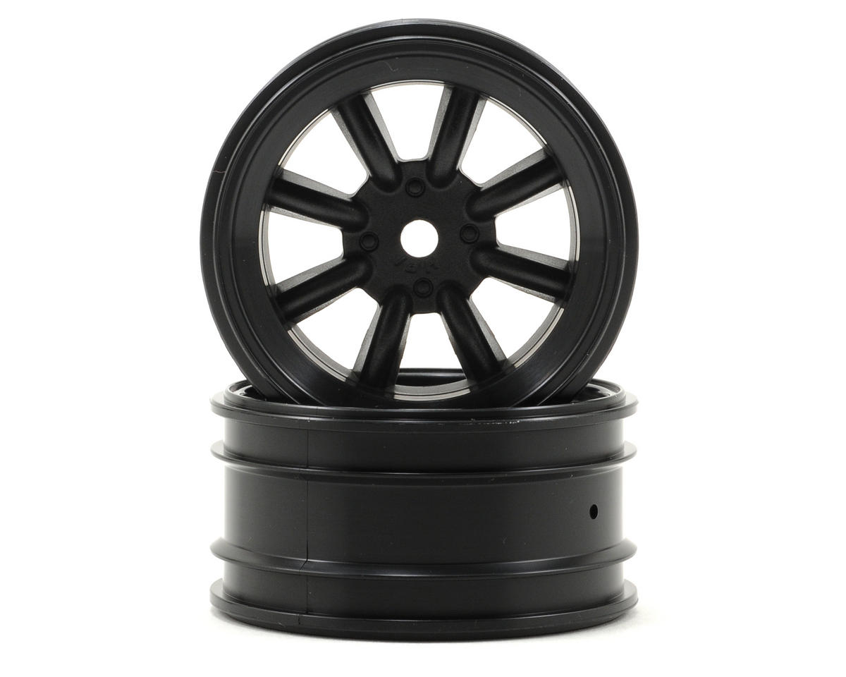 HPI Racing MX60 8 Spoke Wheel (2) (6mm Offset) (Black)